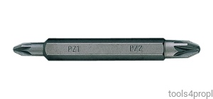 BIT DWUSTRONNY 1/4'' POZIDRIV No.1 / PŁASKI 4,5 x 0,6 x 60mm King Tony 1360451Z